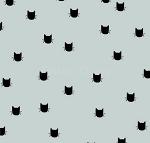 End of Bolt Piece - Flannel - Meow (Riley Blake) - Cat Dot - Grey - 5.5