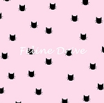 Flannel - Meow (Riley Blake) - Cat Dot - Pink
