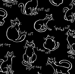 Meow Kitties - Black