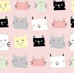 Meow & Forever - Cat Heads - Pink
