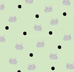Meow & Forever - Cats & Dots - Green