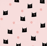 Meow & Forever - Cats & Dots - Pink