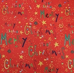 Fat Quarter - Happy Christmas - Red