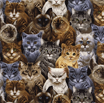End of Bolt Piece - Michael's Cats - Multi - 30