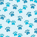Miss Kitty's Colors - Paw Prints - Blue