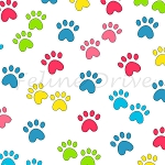 Miss Kitty's Colors - Paw Prints - Multi