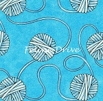 Fat Quarter - Miss Kitty's Colors - Yarn - Blue