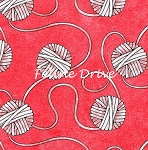 Fat Quarter - Miss Kitty's Colors - Yarn - Red