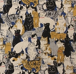 More Cats - Blue - CANVAS