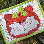 Mug Rug Kit - Holly Cat - Laser Cut