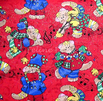 Fat Quarter - Musical Christmas Cats