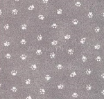 Fat Quarter - My Pet Family - Paws - SIlver