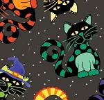 Not So Spooky Halloween - Cat Toss - Dark Gray
