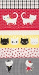 Nyan Cat - Panel - Red/Black/Yellow - OXFORD CLOTH