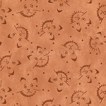 Fat Quarter - On the Web - Scaredy Cats - Rust