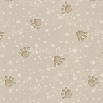 Fat Quarter - Pampered Pets - Paw Prints - Beige