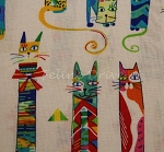 Fat Quarter - Party Animals - White