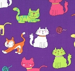 Paw Prints for ASPCA - Cat Time - Purple