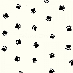 Paw Prints - Spaced Paws on Cream