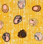 Fat Quarter - Paws - Paw Prints