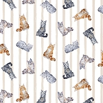 Paws Up! - Crafty Cats - Linen