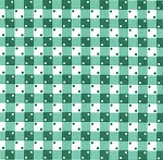 Fat Quarter - Penny's Pets - 1930's Reproduction Prints - Gingham Dot - Green