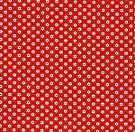 Fat Quarter - Penny's Pets - 1930's Reproduction Prints - Daisy Dot - Red