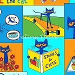 Fat Quarter - Pete the Cat - Patchwork Blocks