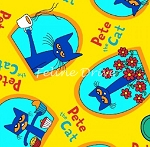 Fat Quarter - Pete the Cat - Pete Allover - Yellow
