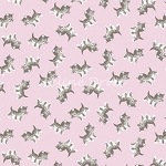 End of Bolt Piece - Petite Treat - Kittens - Pink - 11.5
