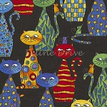Fat Quarter - Playing Cat & Mouse