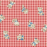Fat Quarter - Pocket Kitten - Kitten Toss - Red