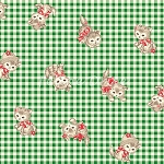 Fat Quarter - Pocket Kitten - Kitten Toss - Green