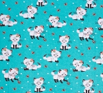 Flannel - Pretty Kitty - Turquoise