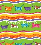 Prisma Cats - Wavy Stripe - Lime