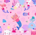 Kitty Mermaids - Pink
