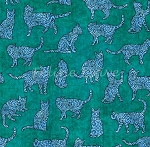 Purr-suasion - Cat Silhouettes - Green