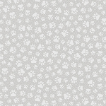 Fat Quarter - Quilting Illusions - Paw Prints - Gray