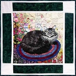 Watercolor Kit - Rachel's Cat Garden - Block 10 - Maine Coon Cat