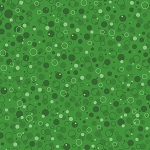 Fat Quarter - Santa's Stash - Bubbly - Green