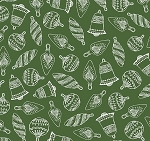 Fat Quarter - Santa's Stash - Simply Ornaments - Green