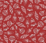 Fat Quarter - Santa's Stash - Simply Ornaments - Red