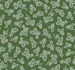 Fat Quarter - Santa's Stash - Pine Cones - Green