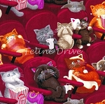 Fat Quarter - Scaredy Cats - At the Movies