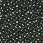 Fat Quarter - Scribble Paws - Black
