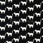 End of Bolt Piece - Mini Prints - Cats - White on Black - 13.5