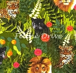 Fat Quarter - Sew Rousseau - Green Jungle
