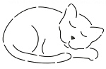 Quilting Stencil - Catnapper - Large (7