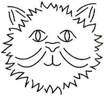 Quilting Stencil - Happy Cat - Small (4