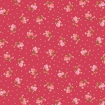 End of Bolt Piece - Flannel - Sweet Pea - Little Sweet Peas - Pink/Red - 6.5